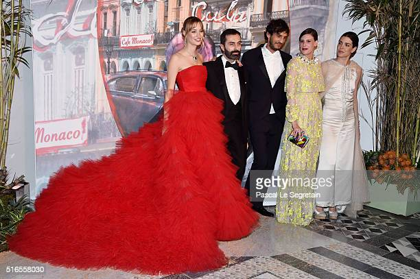 Beatrice CasiraghiGiambattista Vallia guestJuliette Maillot and Charlotte Casiraghi attend The 62nd Rose Ball To Benefit The Princess Grace...