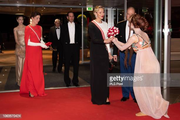 Beatrice CasiraghiPrincess Caroline of Hanover Andrea Casiraghi Princess Charlene of Monaco and Prince Albert II of Monaco attend a Gala during...