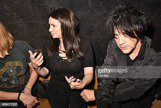 Beatrice Dalle and Nicola Sirkis attend the 'L'Etoile Du jour' Party at Silencio Club on September on September 20 2016 in Paris France