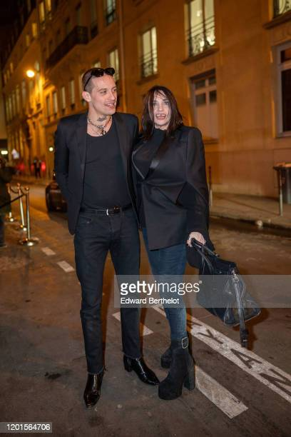 Beatrice Dalle arrives at Sidaction Gala Dinner 2020 At Pavillon Cambon on January 23 2020 in Paris France