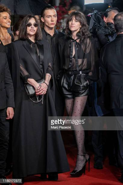 """Beatrice Dalle, Paul Hameline and Charlotte Gainsbourg attend the screening of """"Lux Aetterna"""" during the 72nd annual Cannes Film Festival on May 18,..."""