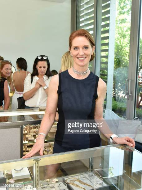 Beatrice DeQuervain of Messika Jewelry attends the Hamptons Magazine London Jewelers Host A Luxury Shopping Afternoon at Topping Rose House on July...
