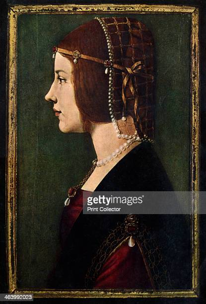 Beatrice d'Este , c1490. Beatrice d'Este was the duchess of Milan and one of the most beautiful and accomplished princesses of the Italian...