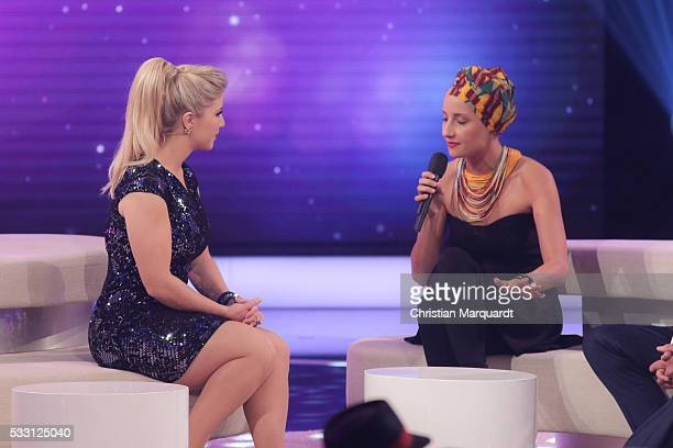Beatrice Egli and Deenas perform on stage during the taping of the tv show 'Beatrice Egli Die grosse Show der Traeume' on May 20 2016 in Berlin...