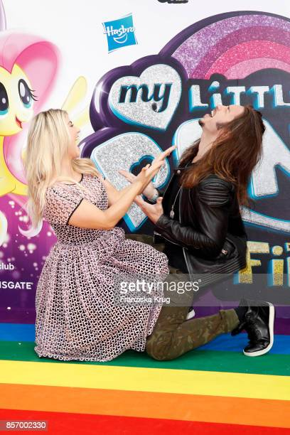 Beatrice Egli and Gil Ofarim attend the 'My little Pony' Premiere at Zoo Palast on October 3 2017 in Berlin Germany