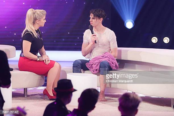 Beatrice Egli and Moritz Haase performs on stage during the taping of the tv show 'Beatrice Egli Die grosse Show der Traeume' on May 20 2016 in...