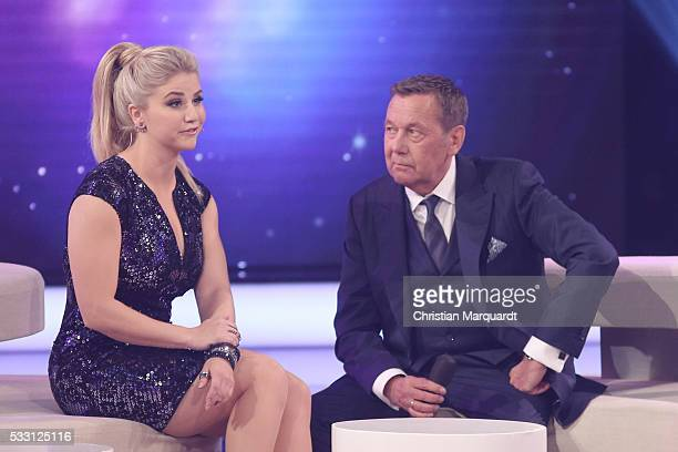 Beatrice Egli and Roland Kaiser perform on stage during the taping of the tv show 'Beatrice Egli Die grosse Show der Traeume' on May 20 2016 in...