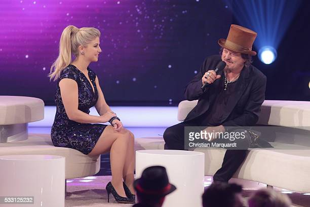Beatrice Egli and Zucchero perform on stage during the taping of the tv show 'Beatrice Egli Die grosse Show der Traeume' on May 20 2016 in Berlin...