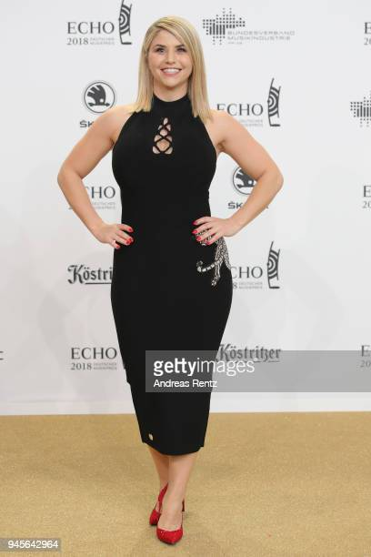 Beatrice Egli arrives for the Echo Award at Messe Berlin on April 12 2018 in Berlin Germany