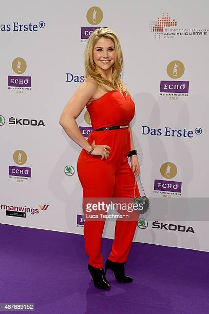 Beatrice Egli attends the Echo Award 2015 Red Carpet Arrivals on March 26 2015 in Berlin Germany