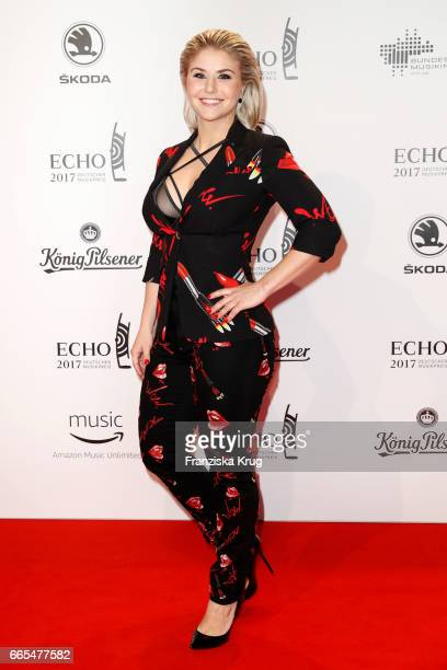Beatrice Egli attends the Echo award red carpet on April 6 2017 in Berlin Germany