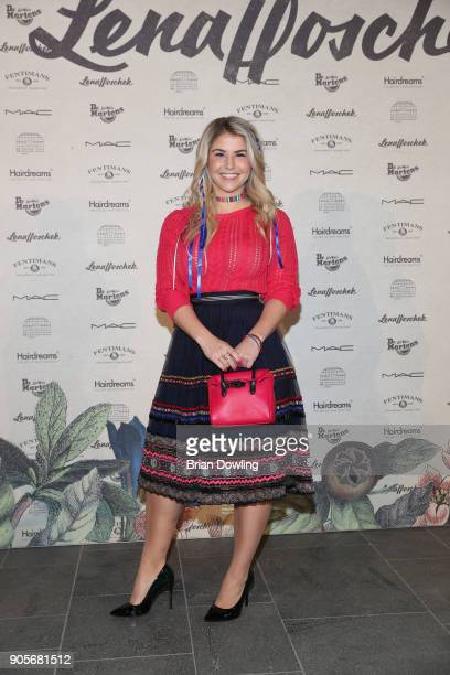 Beatrice Egli attends the Lena Hoschek Fashion Show Berlin at Botanischer Garten on January 16 2018 in Berlin Germany