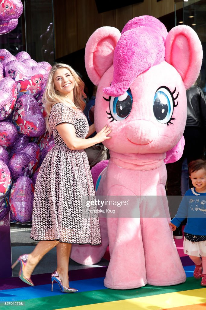 Beatrice Egli attends the 'My little Pony' Premiere at Zoo Palast on October 3, 2017 in Berlin, Germany.
