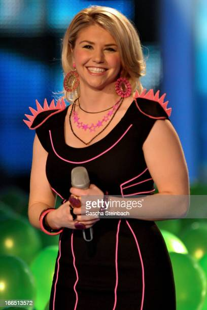 Beatrice Egli attends the rehearsal of the fifth 'Deutschland Sucht Den Superstar' Show at Coloneum on April 13 2013 in Cologne Germany