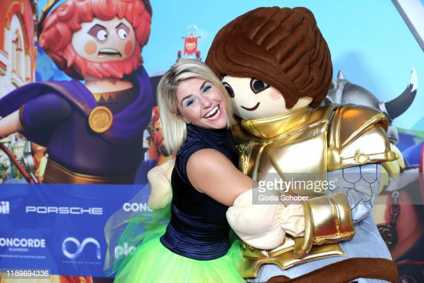Beatrice Egli during the premiere of the movie Playmobil der Film at Mathaeser Filmpalast on August 4 2019 in Munich Germany