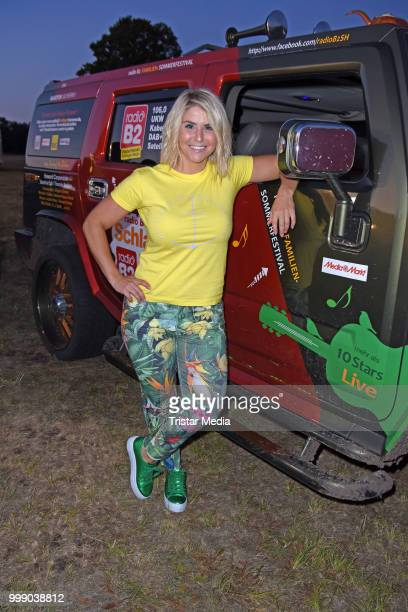 Beatrice Egli during the Radio B2 SchlagerHammer OpenAirFestival at Hoppegarten on July 14 2018 in Berlin Germany