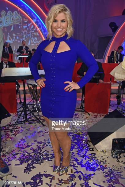 Beatrice Egli during the recording of german MDR TV Show 'Kim Fisher presents Kulthits Die Show mit 100 % Livemusik' on September 4 2018 in Leipzig...