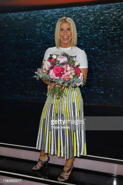 Beatrice Egli during the television show Willkommen bei Carmen Nebel at BadenArena on July 13 2019 in Offenburg Germany