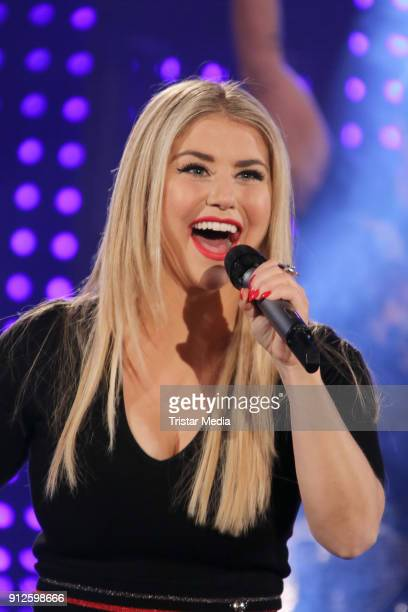 Beatrice Egli during the TV Show 'Meine Schlagerwelt Die Party' hosted by Ross Antony on January 30 2018 in Leipzig Germany