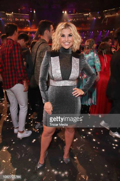 Beatrice Egli during the tv show 'Schlagerbooom 2018 Alles funkelt Alles glitzert' at Westfalen Stadium on October 20 2018 in Dortmund Germany