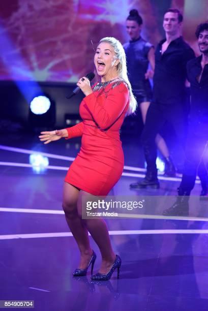 Beatrice Egli during the tv show 'Stefanie Hertel Die grosse Show der langen Beine' on September 27 2017 in Zwickau Germany