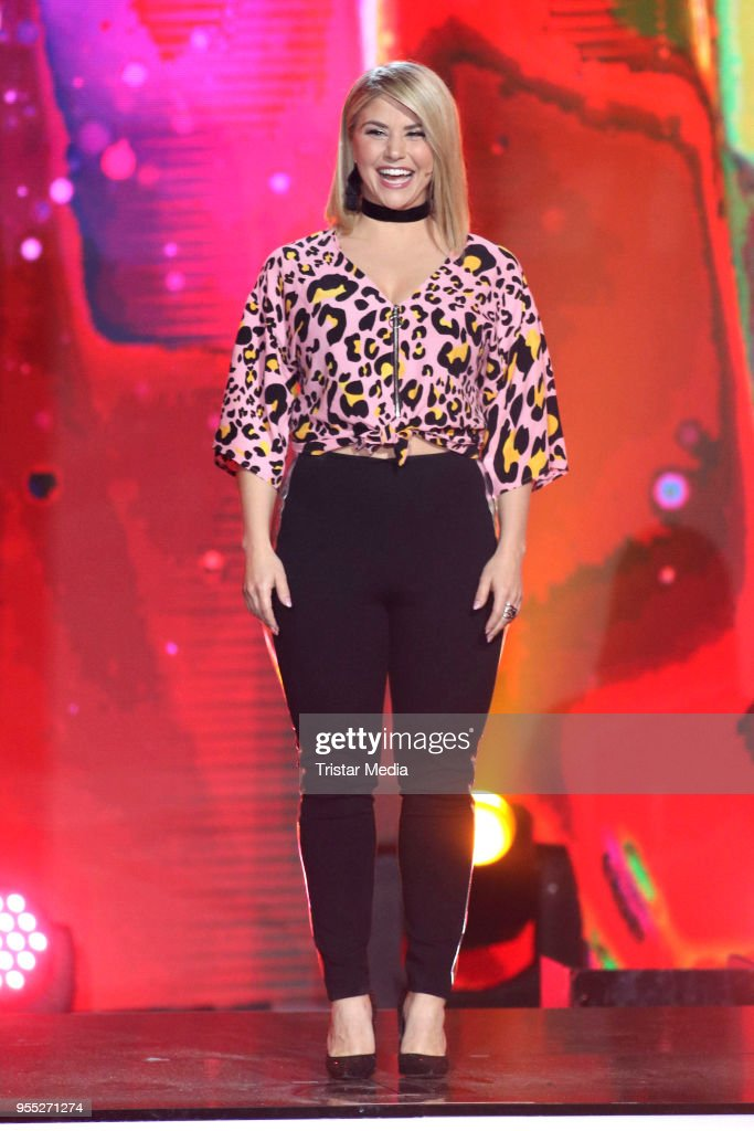 Beatrice Egli during the tv show 'Willkommen bei Carmen Nebel' at Sachsen-Arena on May 5, 2018 in Riesa, Germany.