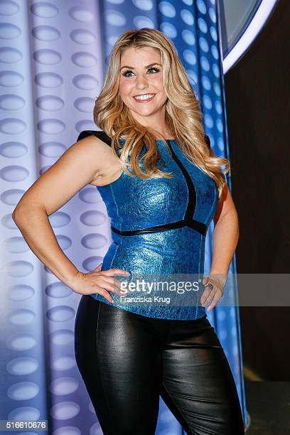 Beatrice Egli during the TV show 'Willkommen bei Carmen Nebel' on March 19 2016 in Magdeburg Germany