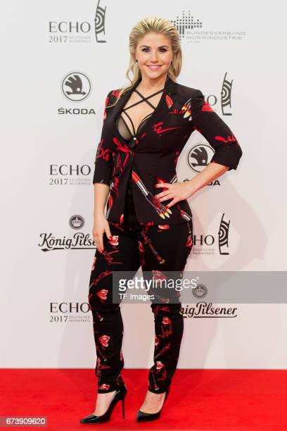 Beatrice Egli on the red carpet during the ECHO German Music Award in Berlin Germany on April 06 2017