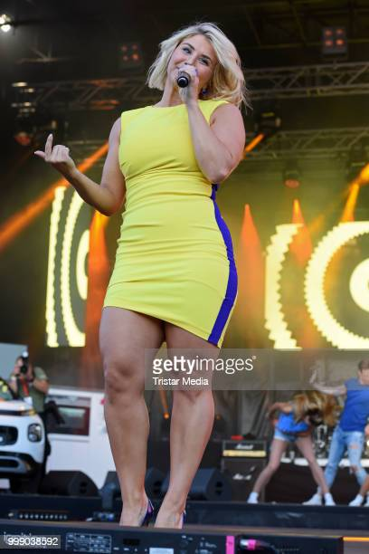 Beatrice Egli performs at the Radio B2 SchlagerHammer OpenAirFestival at Hoppegarten on July 14 2018 in Berlin Germany