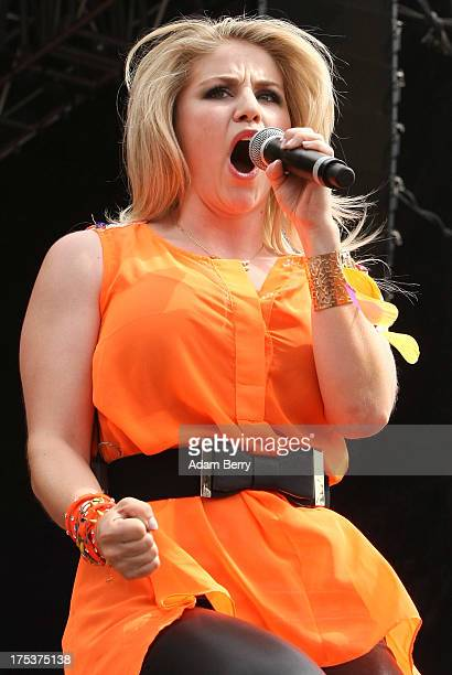 Beatrice Egli performs at the REWE Family Music Festival on August 3 2013 in Berlin Germany