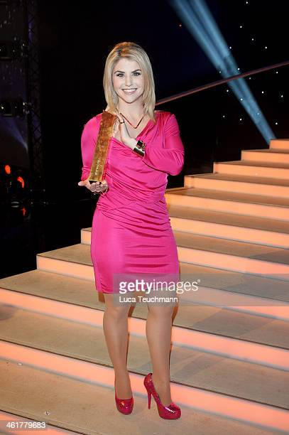 Beatrice Egli performs 'Das grosse Fest der Besten' at Velodrom on January 10 2014 in Berlin Germany