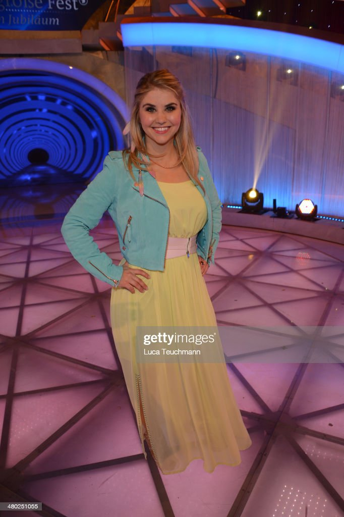 Beatrice Egli performs 'Das grosse Fest zum Jubilaeum' TV Show at GETEC Arena on March 22, 2014 in Magdeburg, Germany.
