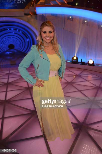 Beatrice Egli performs 'Das grosse Fest zum Jubilaeum' TV Show at GETEC Arena on March 22 2014 in Magdeburg Germany