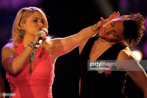 Beatrice Egli performs during the rehearsal of the third 'Deutschland sucht den Superstar' Show at Coloneum on March 30 2013 in Cologne Germany