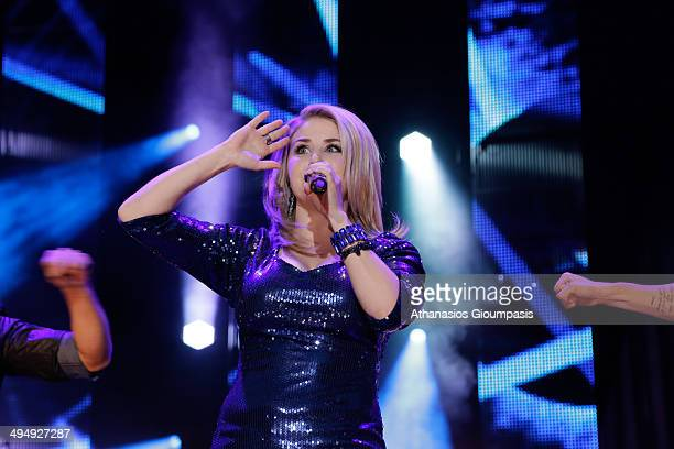 Beatrice Egli performs live during a concert at the 'Die 150 SchlagerStarparde' on May 31 2014 in Berlin Germany