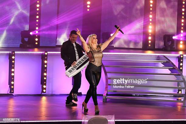 Beatrice Egli performs live on stage at the 'Starnacht aus der Wachau' on September 20 2014 in Rossatz Austria