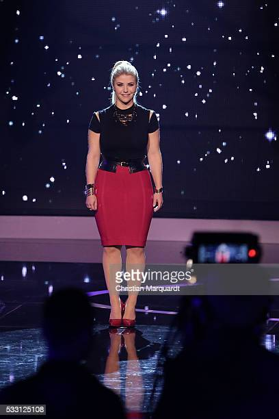 Beatrice Egli performs on stage during the taping of the tv show 'Beatrice Egli Die grosse Show der Traeume' on May 20 2016 in Berlin Germany The...