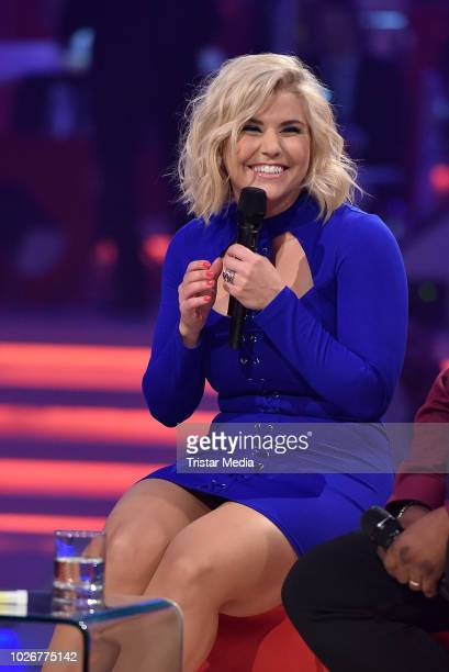 Beatrice Egli performs the recording of german MDR TV Show 'Kim Fisher presents Kulthits Die Show mit 100 % Livemusik' on September 4 2018 in Leipzig...