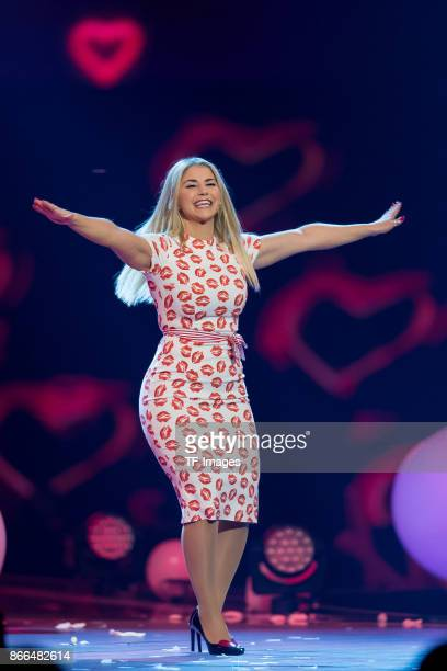 Beatrice Egli performs the 'Schlagerboom Das Internationale Schlagerfest' at Westfalenhalle on October 21 2017 in Dortmund Germany