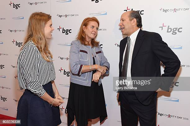 Beatrice Ferguson Princess of York Sarah Ferguson Duchess of York and Chairman and CEO of Cantor Fitzgerald Howard Lutnick attend the Annual Charity...