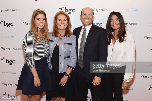 Beatrice Ferguson Princess of York Sarah Ferguson Duchess of York Chairman and CEO of Cantor Fitzgerald Howard Lutnick and Allison Lutnick attend the...