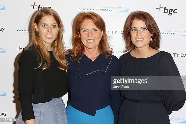 Beatrice Ferguson Sarah Ferguson Duchess of York and Eugenie Ferguson attend Annual Charity Day hosted by Cantor Fitzgerald and BGC at BGC Partners...