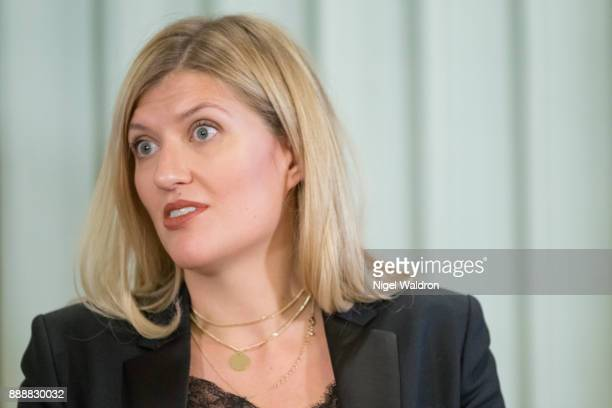 Beatrice Fihn Executive Director International Campaign to Abolish Nuclear Weapons expresses her opinion during a press conference at the Norwegian...