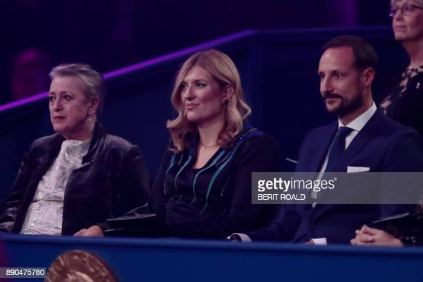 Beatrice Fihn leader of ICAN winner of the 2017 Nobel Peace Prize attends beside Crown Prince Haakon of Norway the Nobel Peace Prize Concert in...