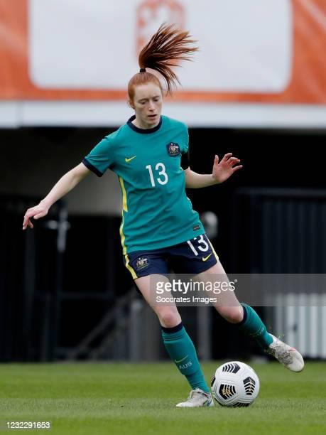 Beatrice Goad of Australia Women during the International Friendly Women match between Holland v Australia at the Goffert Stadium on April 13, 2021...