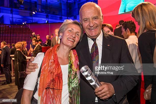 Beatrice Goetz and Goetz Werner attend the 'Deutscher Gruenderpreis 2014' on September 16 2014 in Berlin Germany
