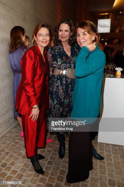 Beatrice GuillaumeGrabisch Tita von Hardenberg and Karen Heumann during the Veuve Clicquot Business Woman Award 2019 at French Embassy on March 4...