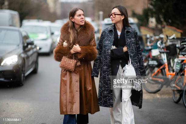 Beatrice Gutu is seen outside By Malene Birger during the Copenhagen Fashion Week Autumn/Winter 2019 Day 3 on January 31 2019 in Copenhagen Denmark