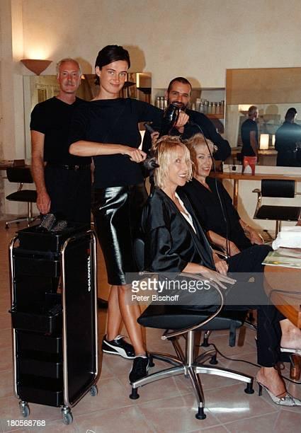 Beatrice Kollo Name folgt Name folgtStarFriseur Udo Walz die Eröffnungseines ersten FriseurSalons Frisör Mallorca/Spanien Salon friesieren