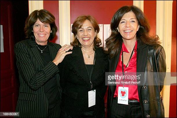 Beatrice Leeb Anne Barrere and Framboise Holtz at La Vie En Rire Party To Benefit Cent Pour Sang La Vie